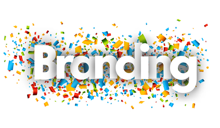 branding letters vector word banner sign 向量圖像
