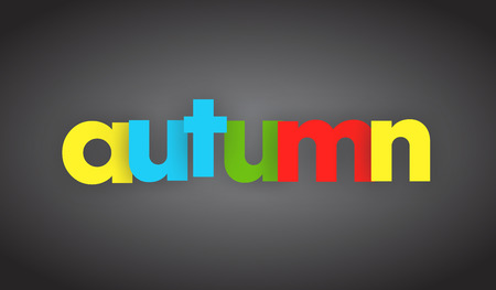 autumn letters vector word banner sign Imagens - 78335351