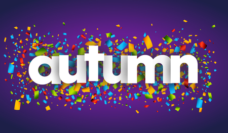 autumn letters vector word banner sign Imagens - 78280672
