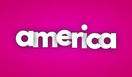 Amerika letters vector woord banner teken Stockfoto - 78254822