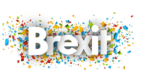 britannia: brexit letters vector word banner sign Illustration