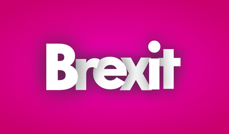 brexit letters vector word banner sign Illustration