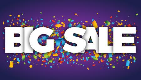 big sale letters vector word banner sign Illustration