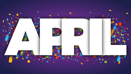 april letters vector word banner sign Illustration