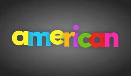 アメリカの文字ベクトル単語バナー記号
