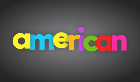 american letters vector word banner sign