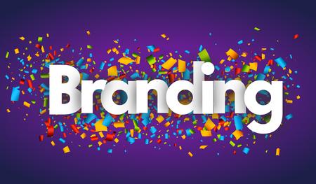 branding letters vector word banner sign Иллюстрация