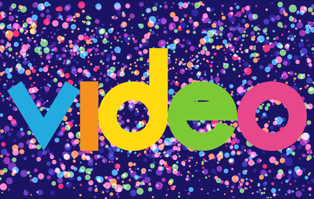 video colorful vector letter banner Illusztráció