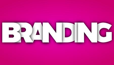 Branding letters vector word banner sign