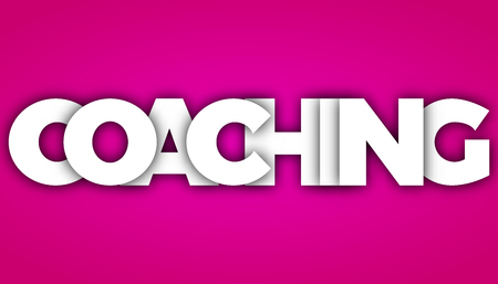 coaching letters vector word banner sign