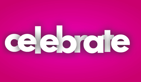 celebrate letters vector word banner sign