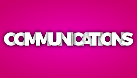 communications letters vector word banner sign