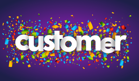 customer letters vector word banner sign