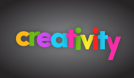 creativity letters vector word banner sign