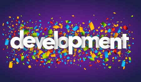 development letters vector word banner sign