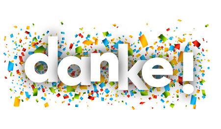 Bedankt brieven vector woord banner teken Stock Illustratie
