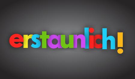 Amazing letters vector word banner sign Illusztráció