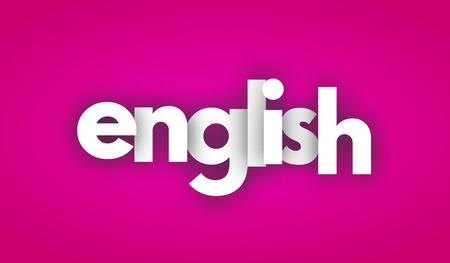 English letters vector word banner sign