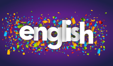 english letters vector word banner sign Çizim