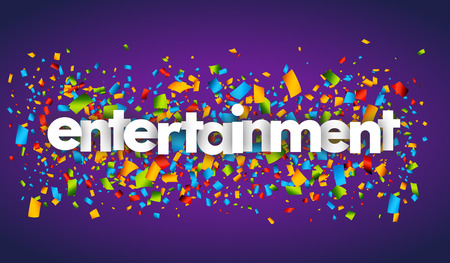 entertainment letters vector word banner sign