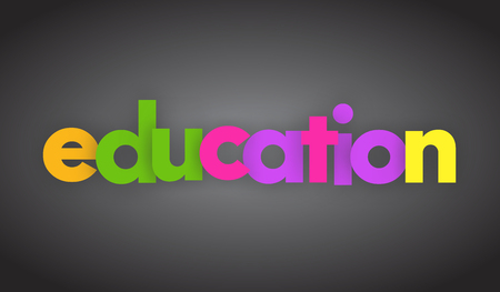 education letters vector word banner sign