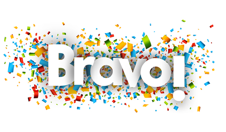 bravo letters vector word banner sign Ilustração