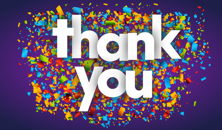 Thank you Colourful Vector Letters Banner Illustration