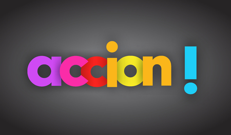 action letters vector word banner sign Illustration