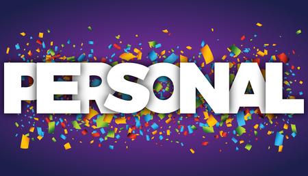personal letters vector word banner sign