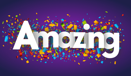 amazing letters vector banner sign