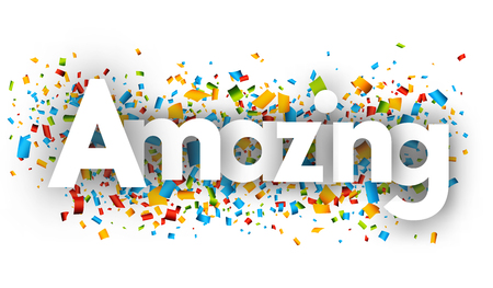 Amazing letters vector word banner sign 일러스트