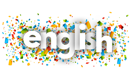 English letters vector word banner sign Illustration