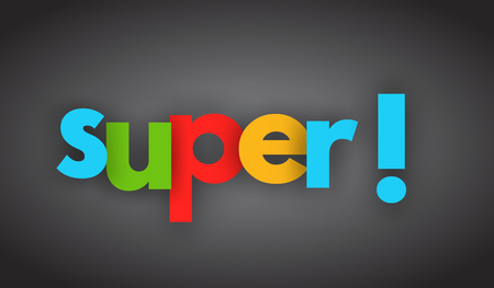 Super letters vector word banner sign
