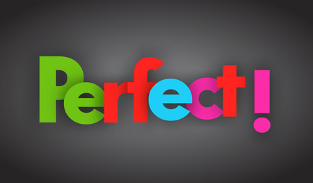 Perfect letters vector word banner sign Illustration