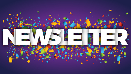 Nieuwsbrief letters vector woord banner teken Stockfoto - 78565925