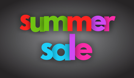 Summer sale letters vector word banner sign