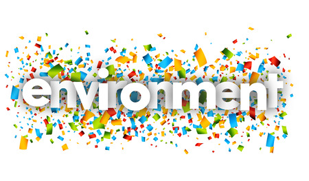 Environment letters vector word banner sign
