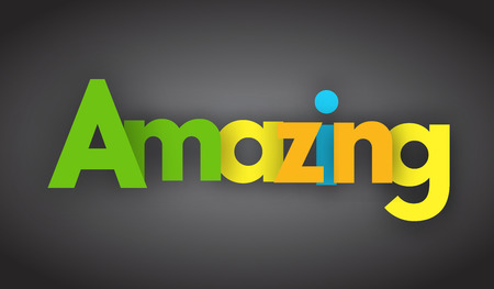 Amazing letters vector word banner sign Иллюстрация