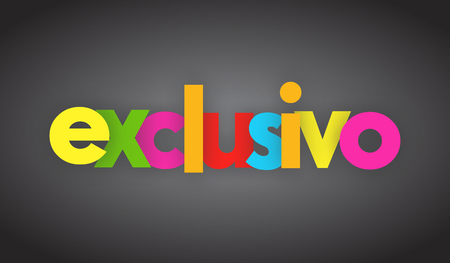 Exclusive letters vector word banner sign
