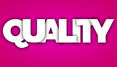 quality letters vector word banner sign 向量圖像