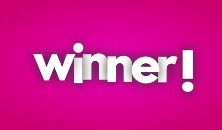winner letters vector banner sign Illustration