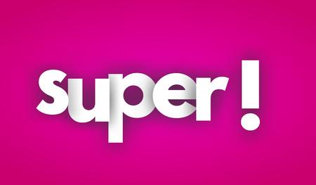 super letters vector word banner sign