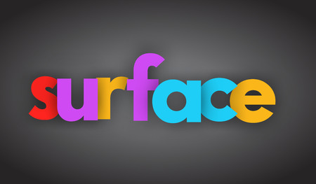 Surface letters vector word banner sign Illustration
