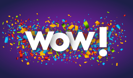 wow letters vector word banner sign