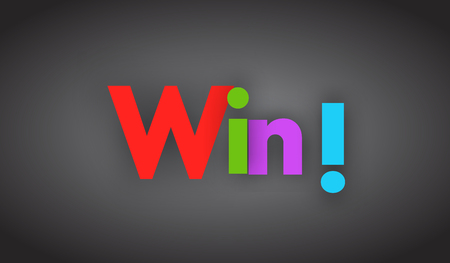 Win letters vector word banner sign Иллюстрация