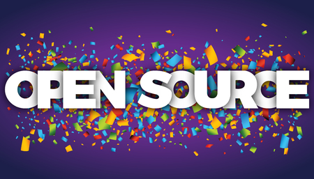 open source letters vector word banner sign Çizim