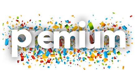Premium letters vector word banner sign Illustration