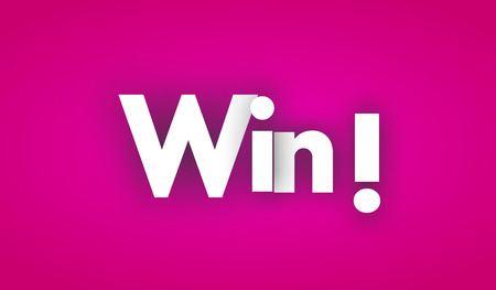 win letters vector word banner sign 일러스트