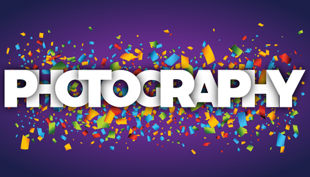 photography letters vector word banner sign Ilustracja