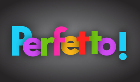 perfect letters vector word banner sign